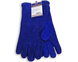"14"" Spark Resistant Welding Gloves Blue"