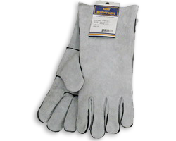 "14"" Spark Resistant Welding Gloves Gray"