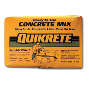 Quikrete Concrete Mix 60lb Bag