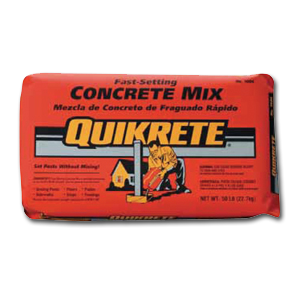 Quikrete Fast Setting Concrete Mix 50lb bag