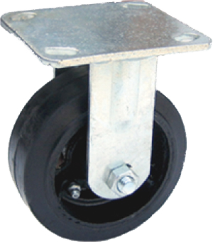 "5"" Light/Medium Duty Rubber Rigid Caster"