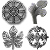Decorative Iron Flowers and Leaves
