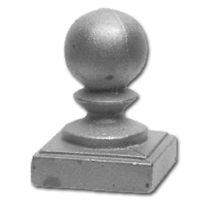 "1-1/2"" Cast Iron Post Ball 117"