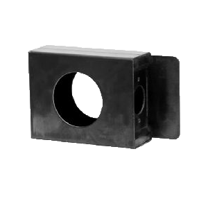 "Flat 1-Hole Lock Box 1-3/8"" Thick 2-1/8"" Single Hole"
