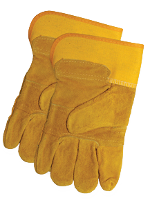Leather Palm Yellow Work Glove